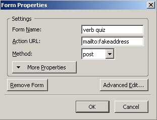 Forms and text boxes